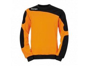 Kempa mikina Tribute - oranžová/černá