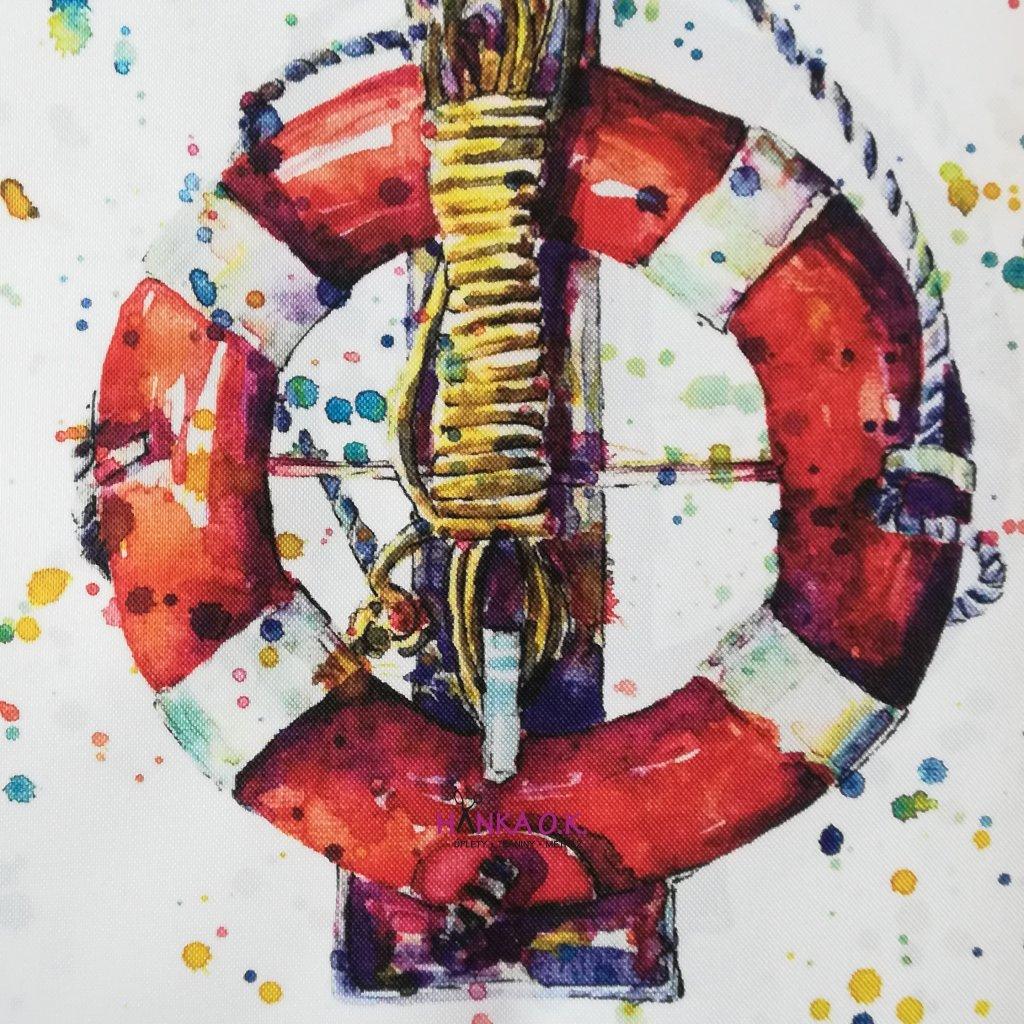 Panel na tašku Kruh lodní 50x40 - kočárkovina
