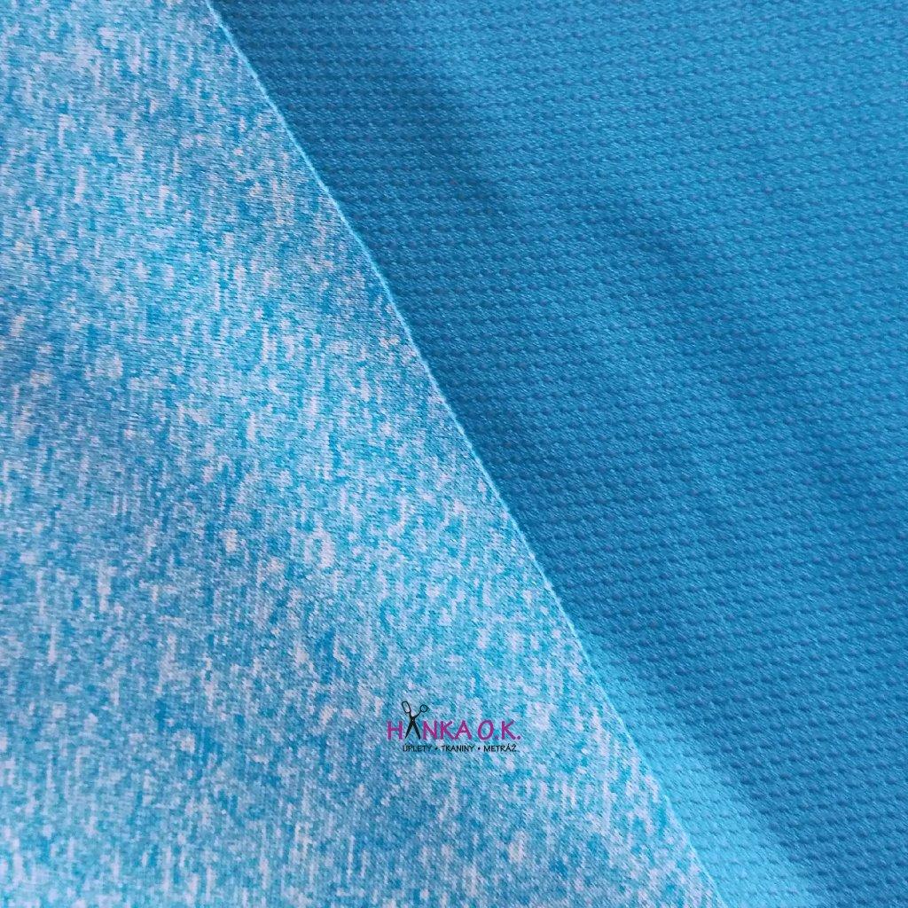 Letní softshell modrý melír 200g