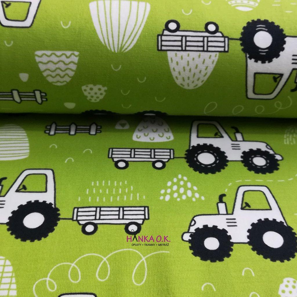 Úplet traktor na zelené 220g