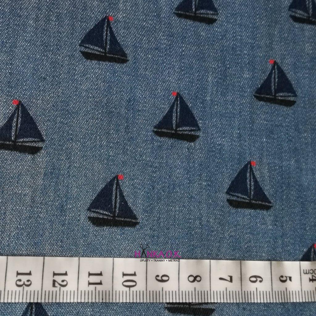 Jeans lehký 125g - plachetnice