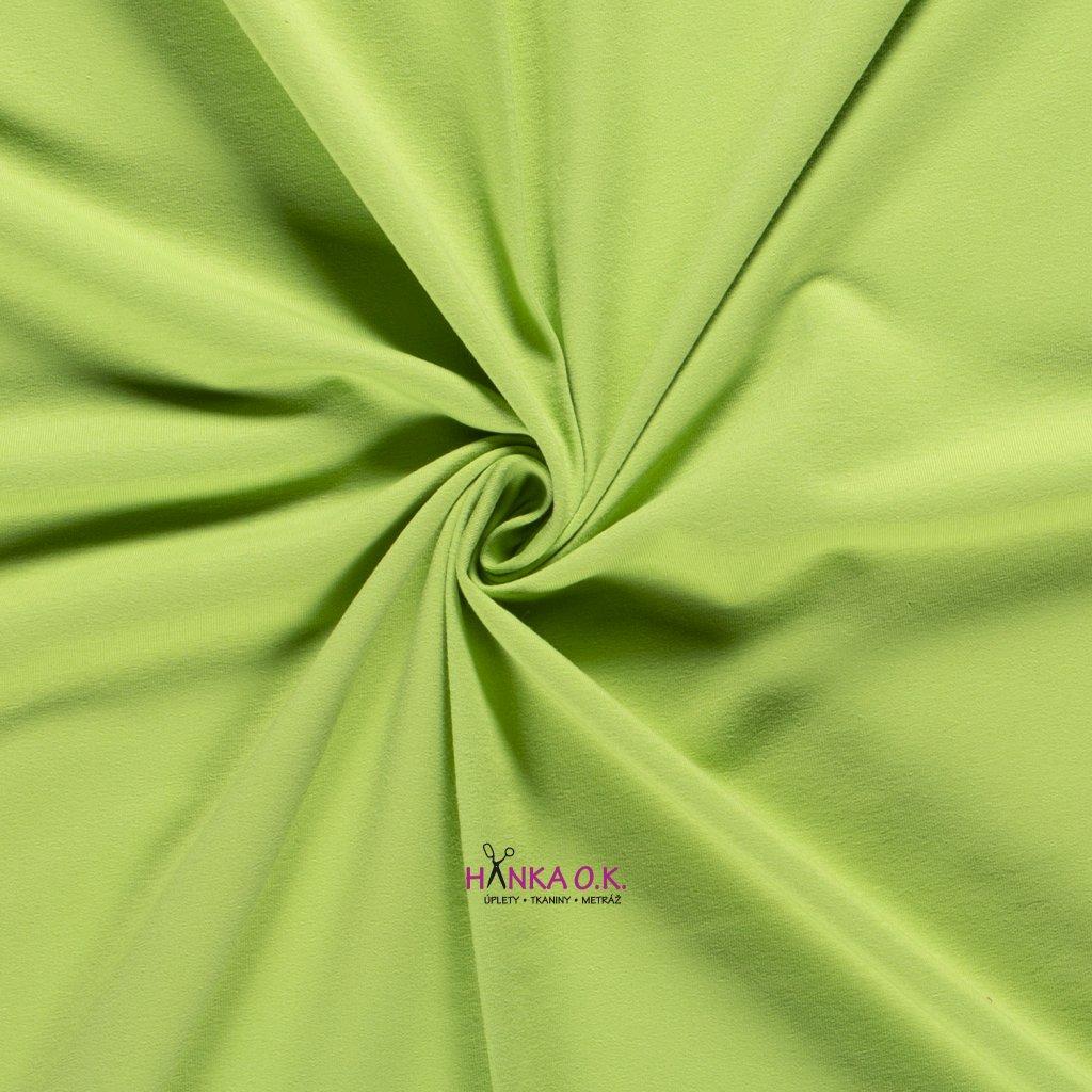 Teplákovina zelená lime 250g