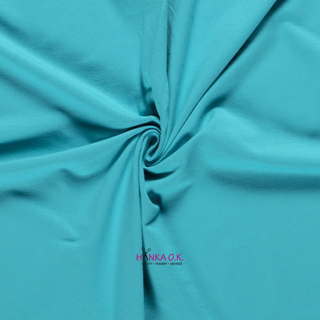 teplákovina frech terry modrá aqua
