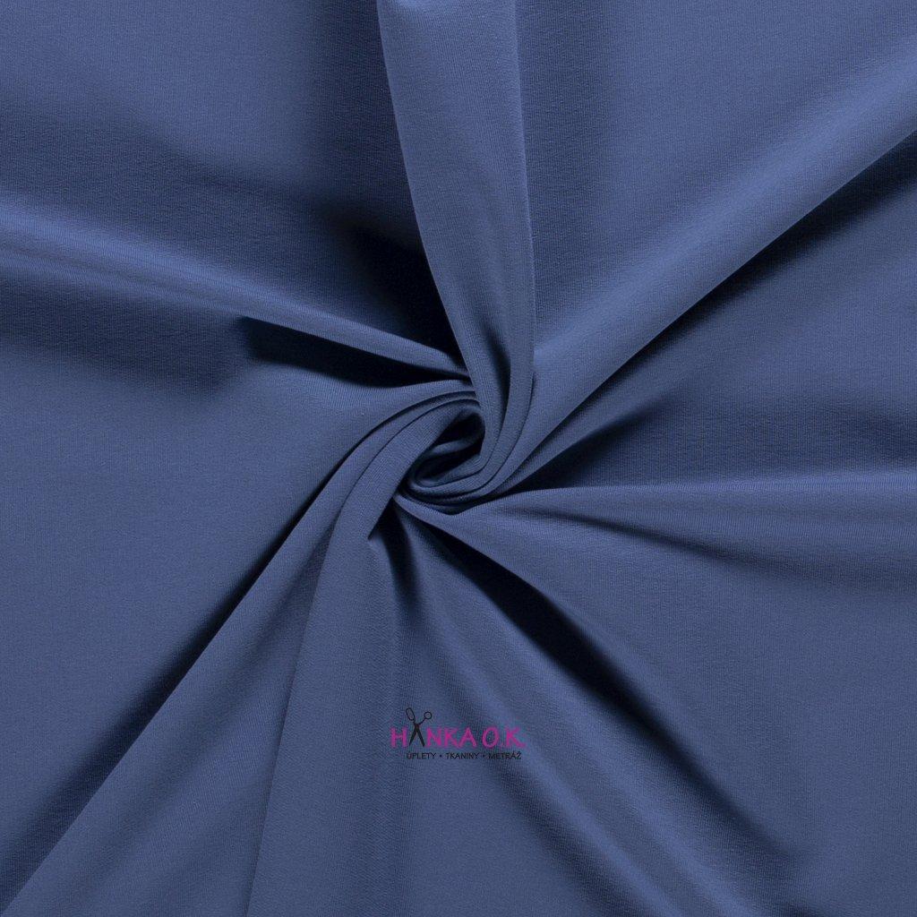 teplákovina frech terry modrá indigo