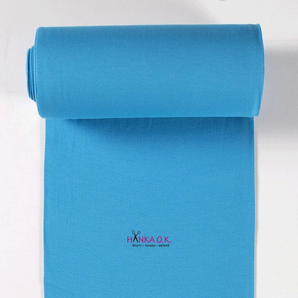 Náplet hladký modrý aqua tunel 2x35cm