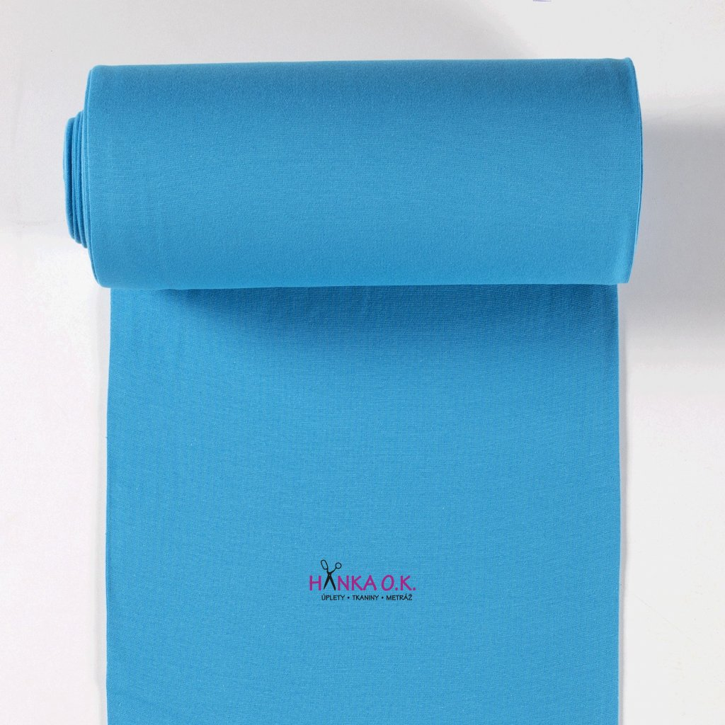 náplet hladký modrý tyrkysový tunel patent