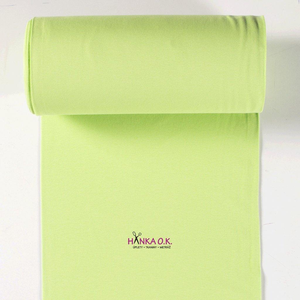 Náplet hladký lime green tunel 2x35cm