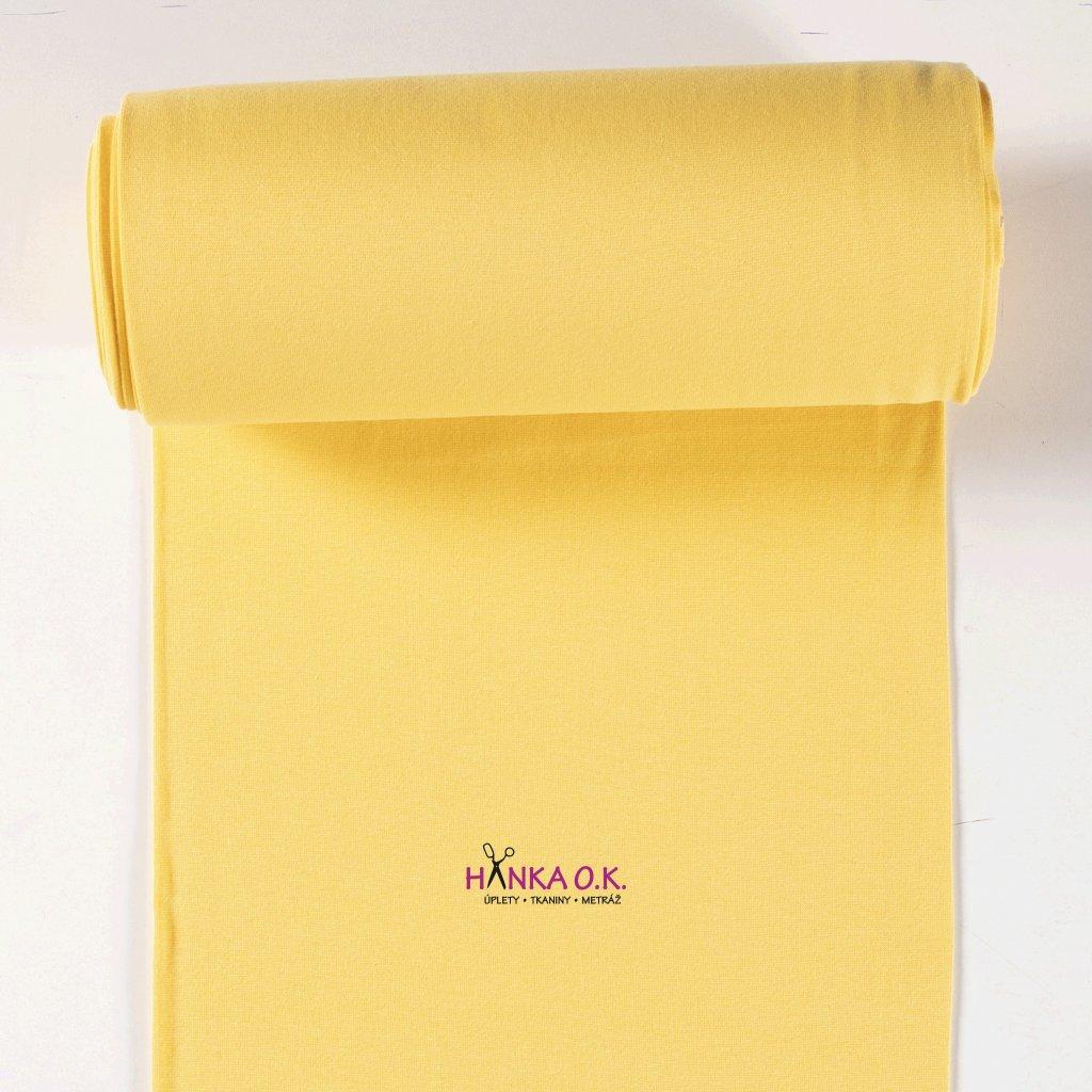 Náplet hladký žlutá žloutková tunel 2x35cm