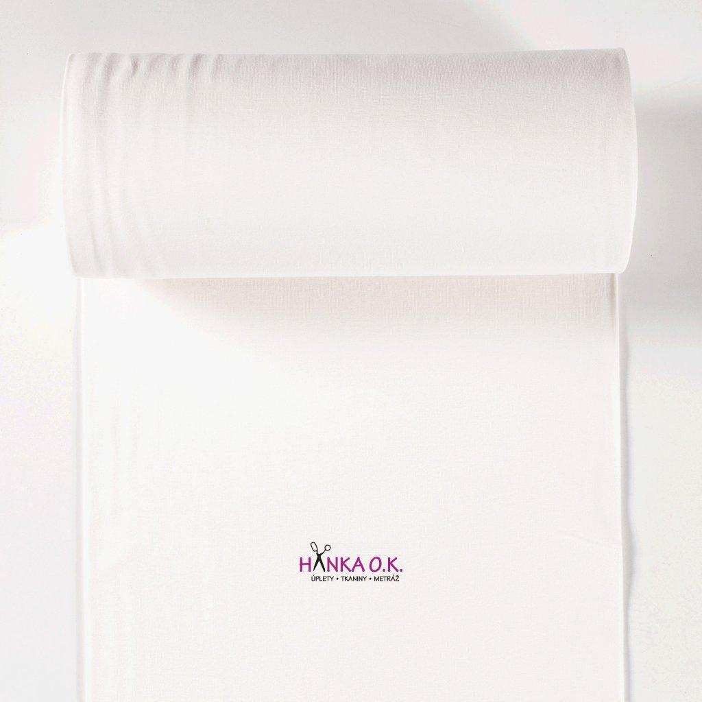 Náplet hladký nebělená bílá ecru off white tunel 2x35cm