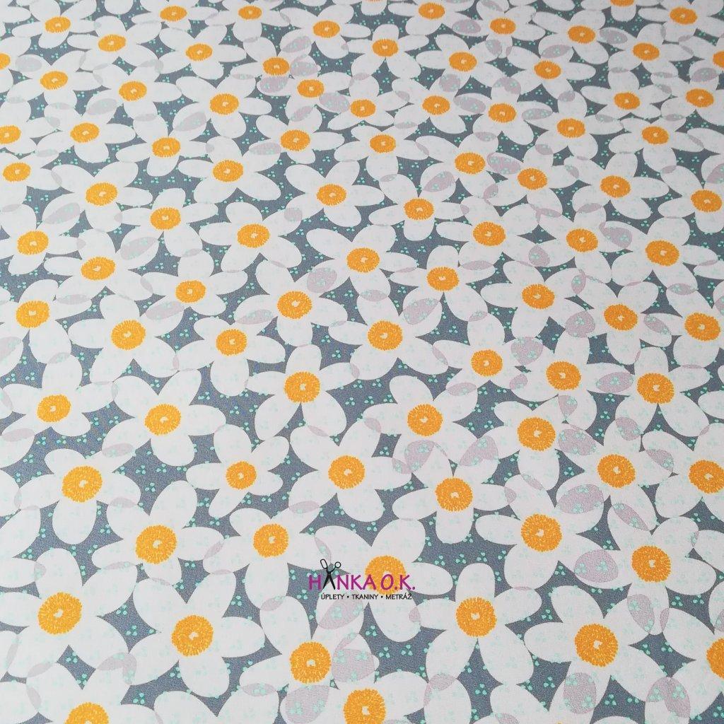 Softshell zimní 3 vrstvý lovely flowers, 320g