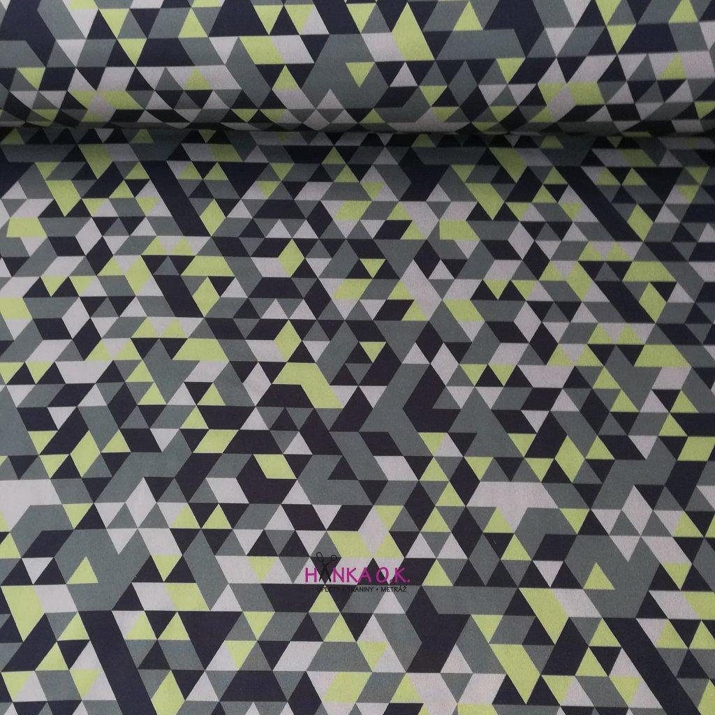 Softshell zimní 3 vrstvý maskáč trojúhelníky, 320g