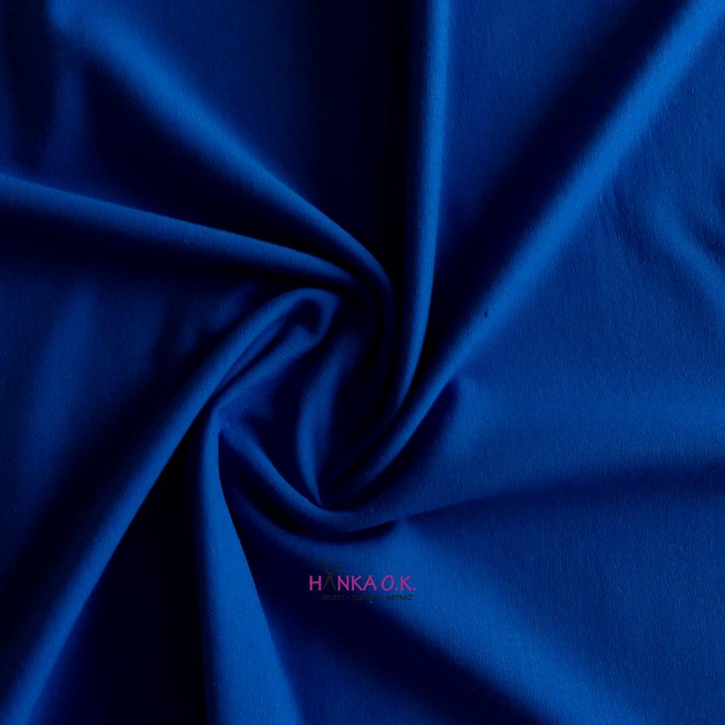 Teplákovina počesaná modrá 250g