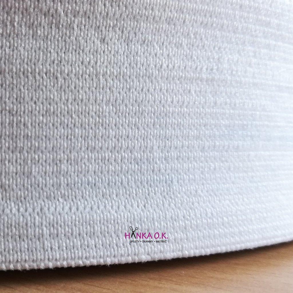 Pruženka - guma pletená galonová - oděvní, šíře 3 cm - černá, bílá