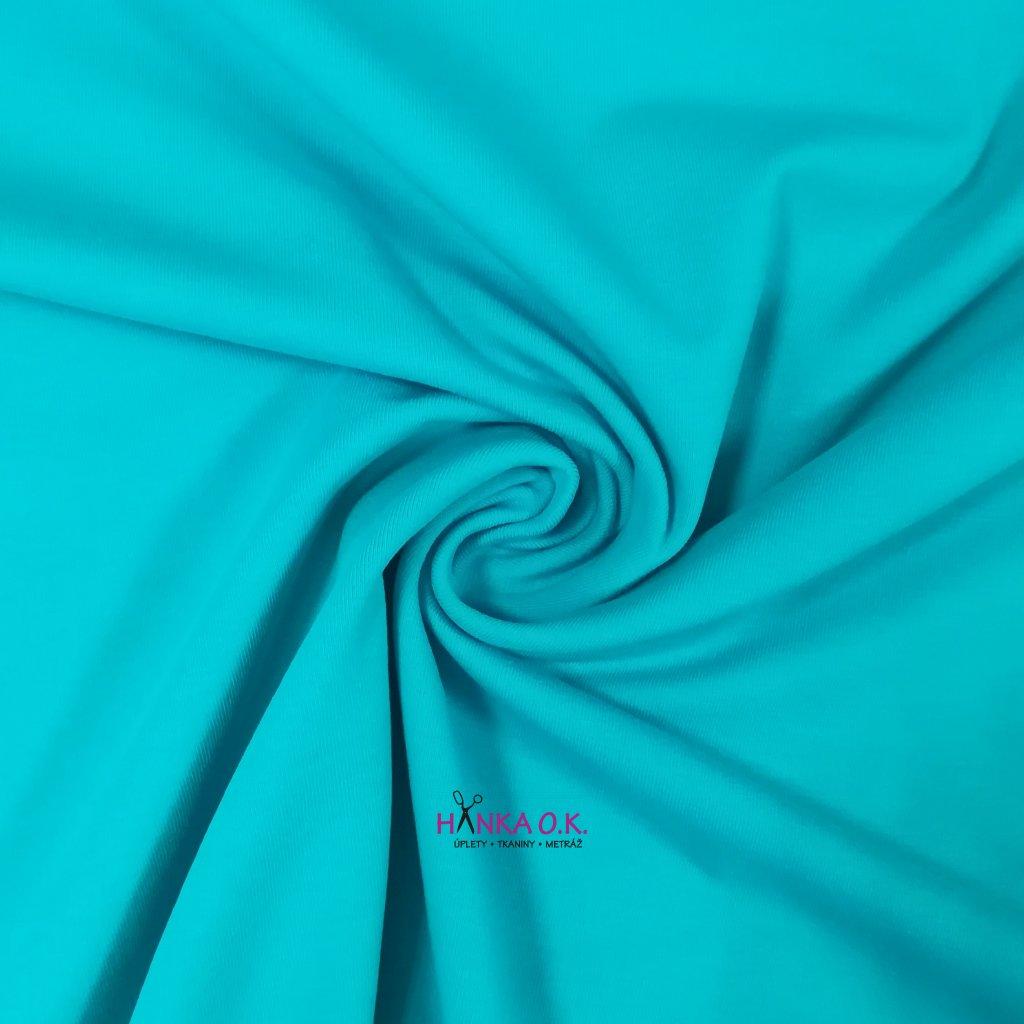 Úplet jednolícní modrá aqua 235g