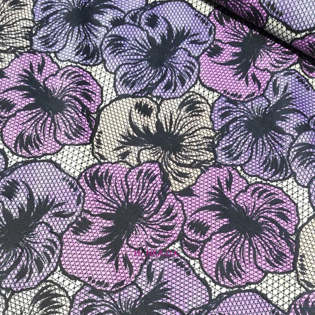 Úplet UV magická krajka - velké květy