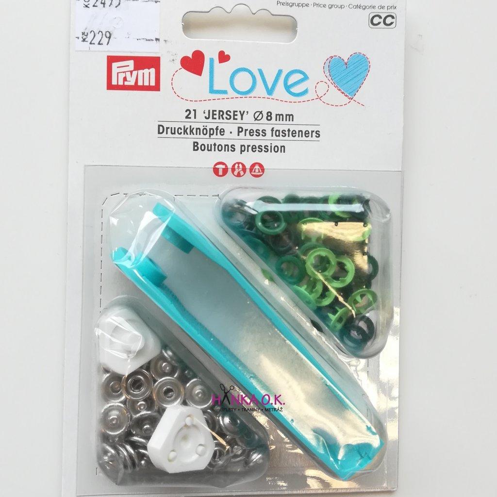 Knoflík stiskací 8mm Jersey PRYM LOVE - patentka