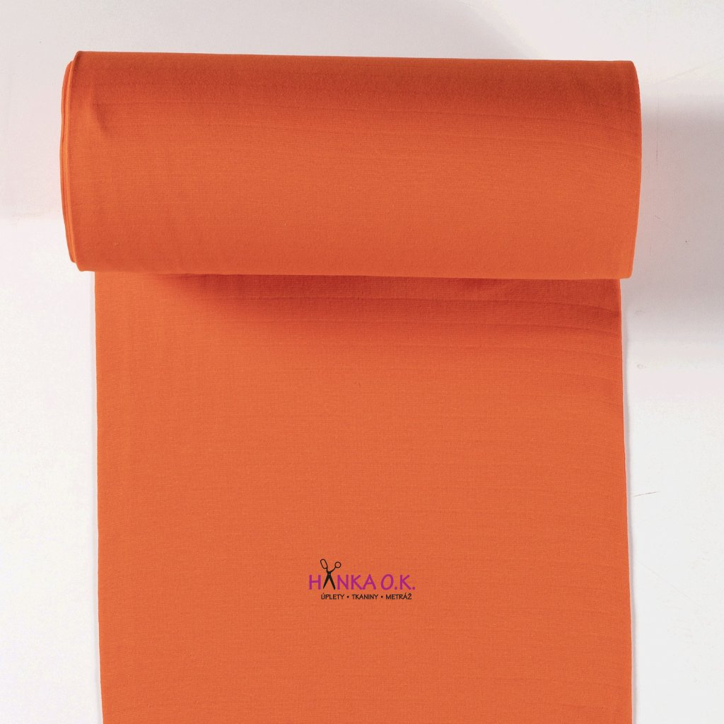 Náplet hladký oranžový tunel 2x35cm