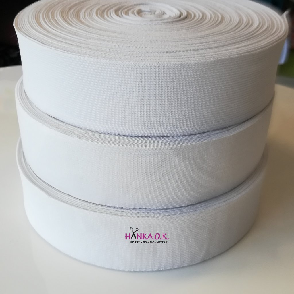 Guma pletená šíře 5 cm - návin 25m