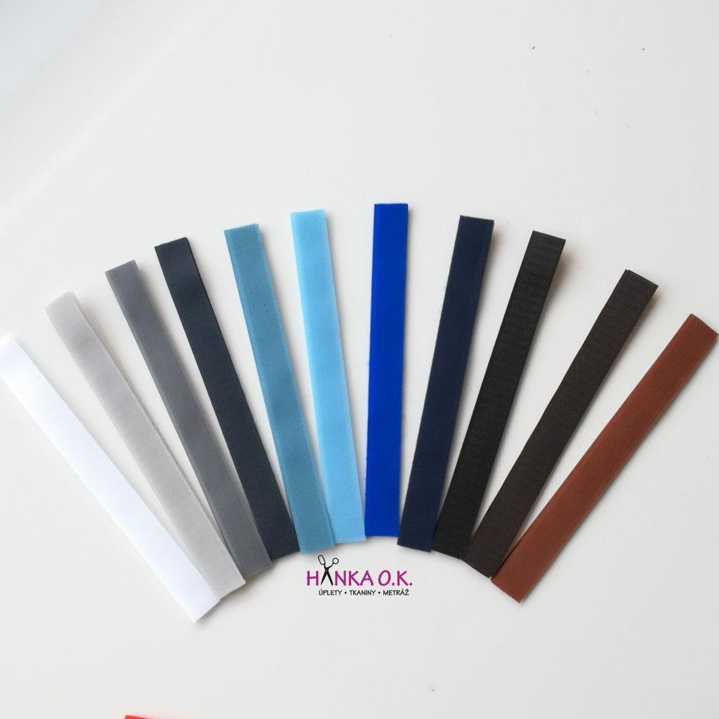 Suchý zip stříhaný 2x20 cm - (stuhový uzávěr) - různé barvy