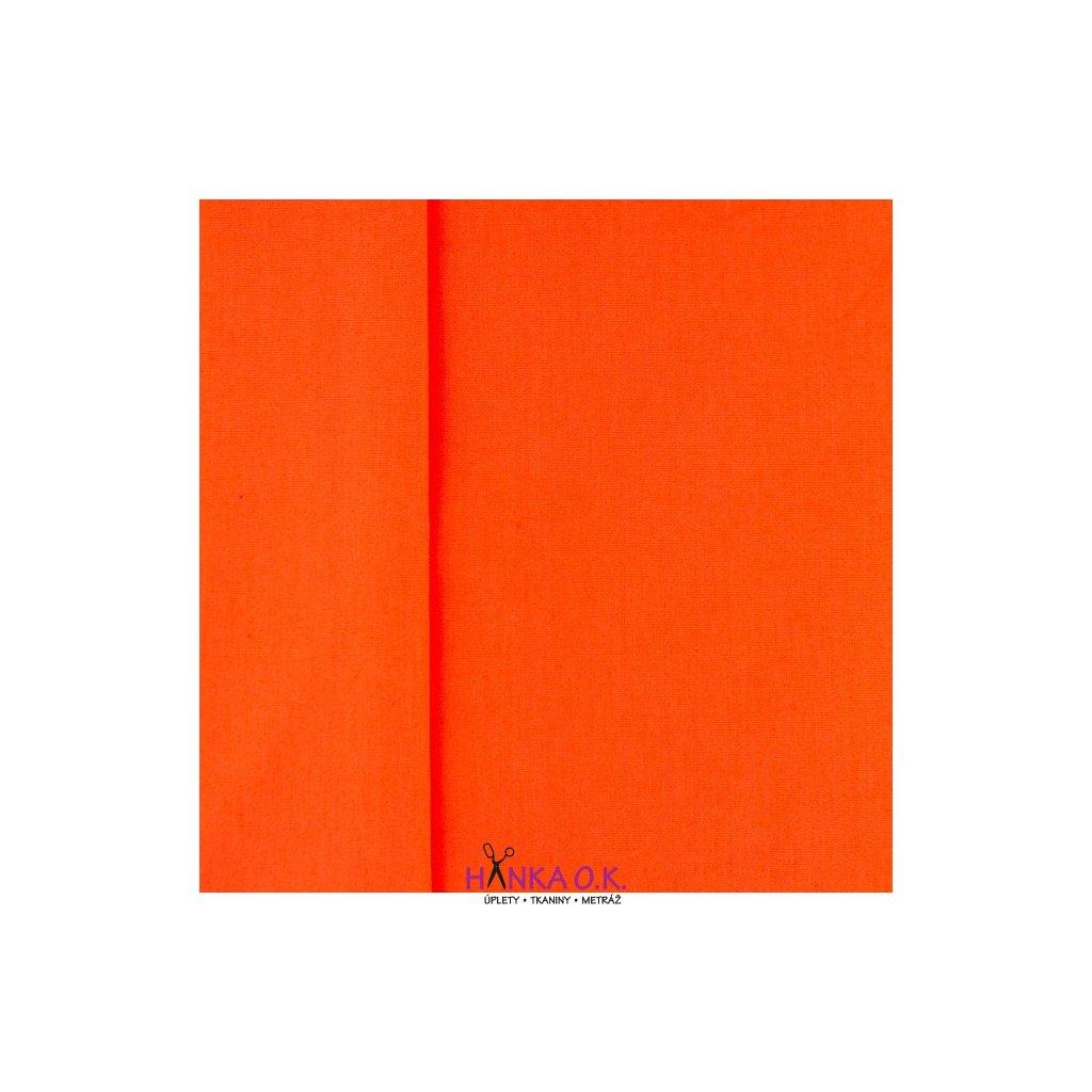 popelín oranžová