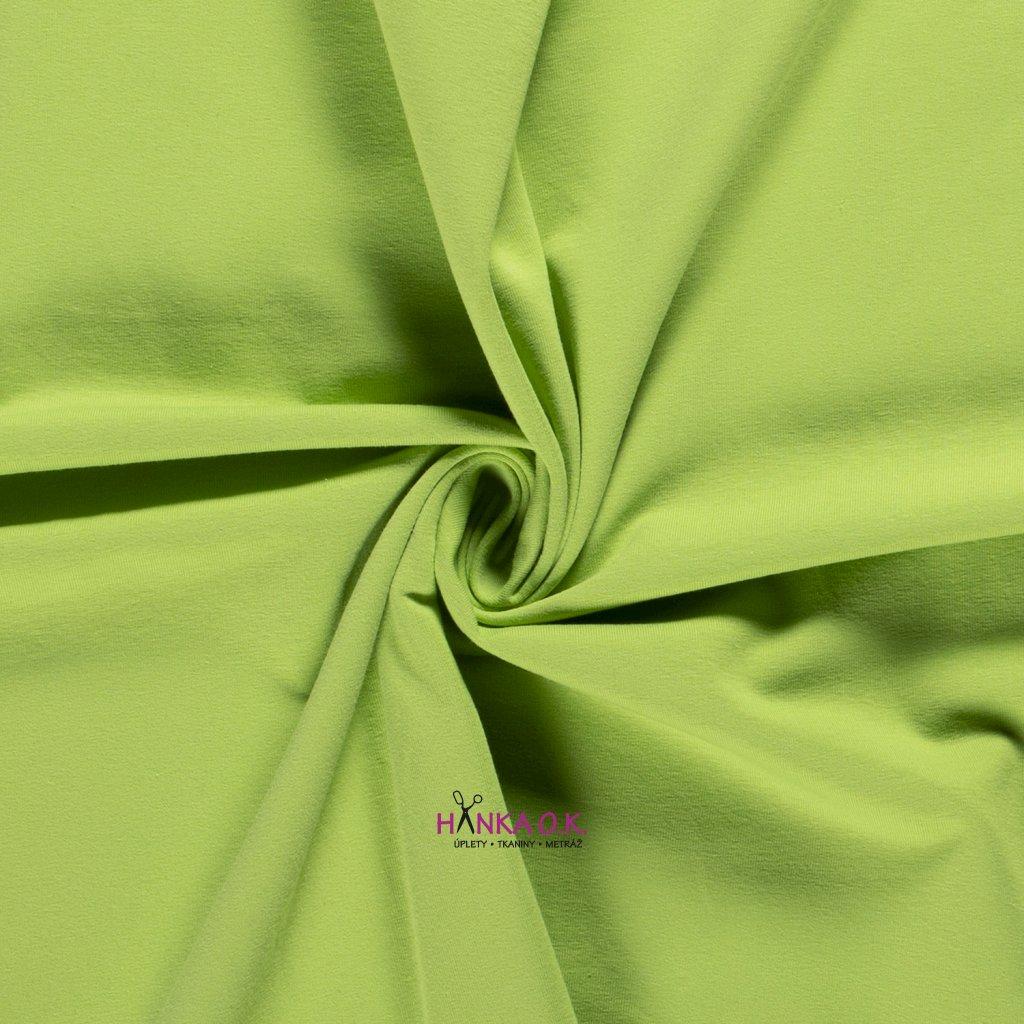 Teplákovina počesaná zelená lime 250g