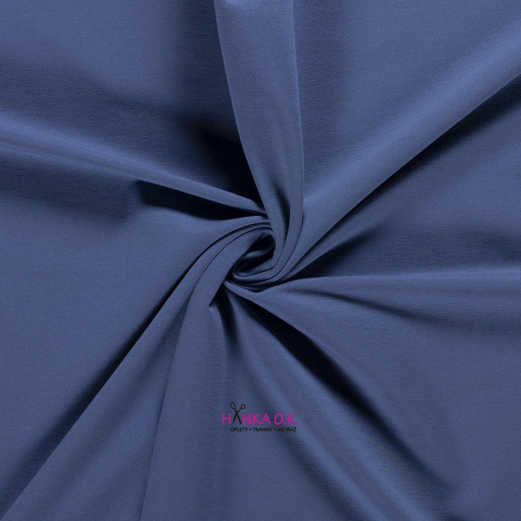 Úplet jednolícní modrá indigo 235g