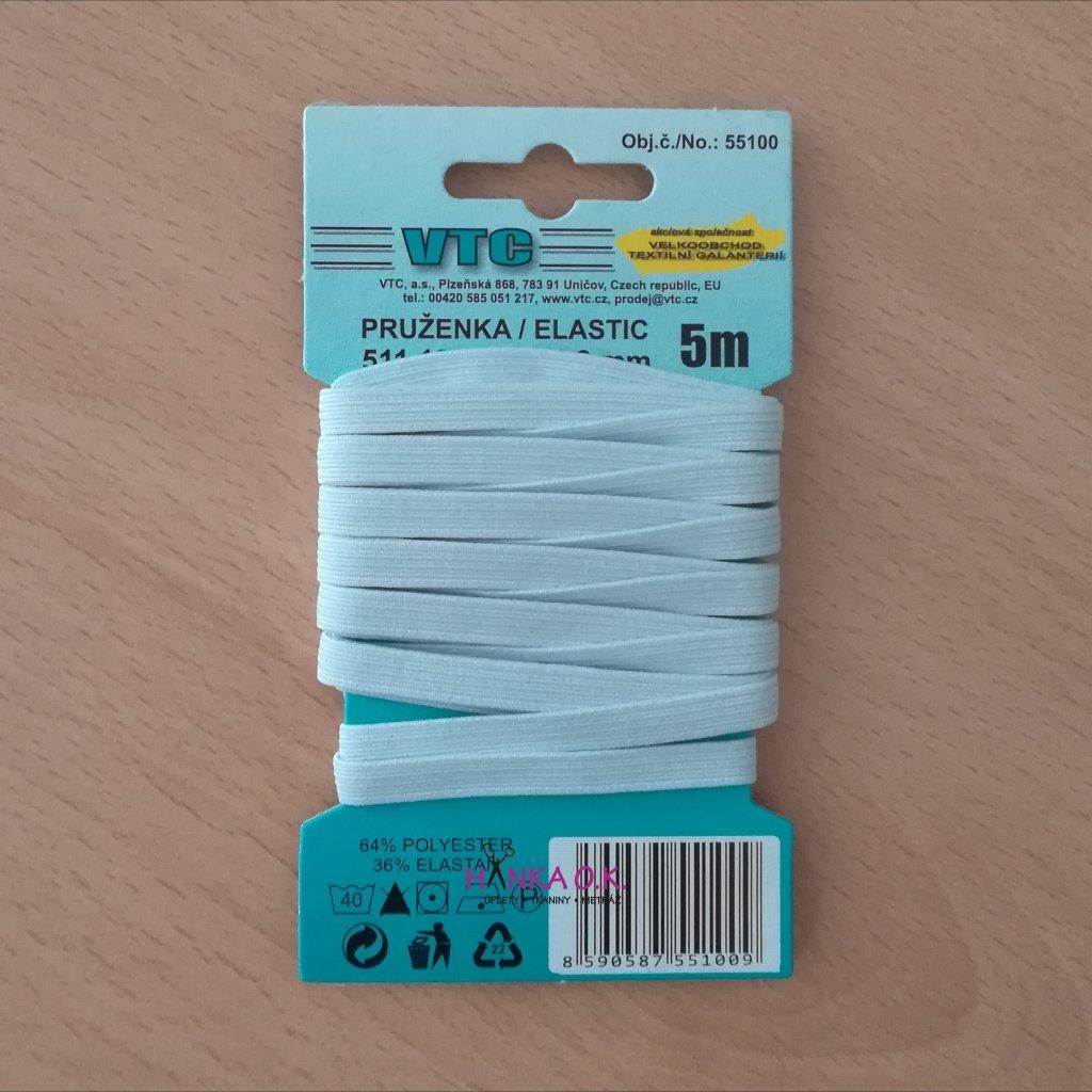 Pruženka - trenýrková guma 6,6 mm na kartě 5m