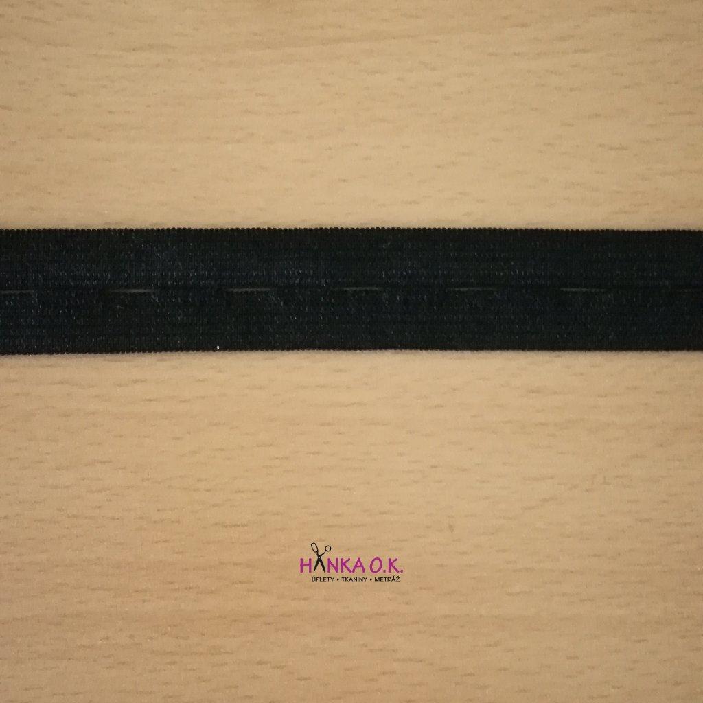 Dírková knoflíková guma - pruženka šíře 18mm