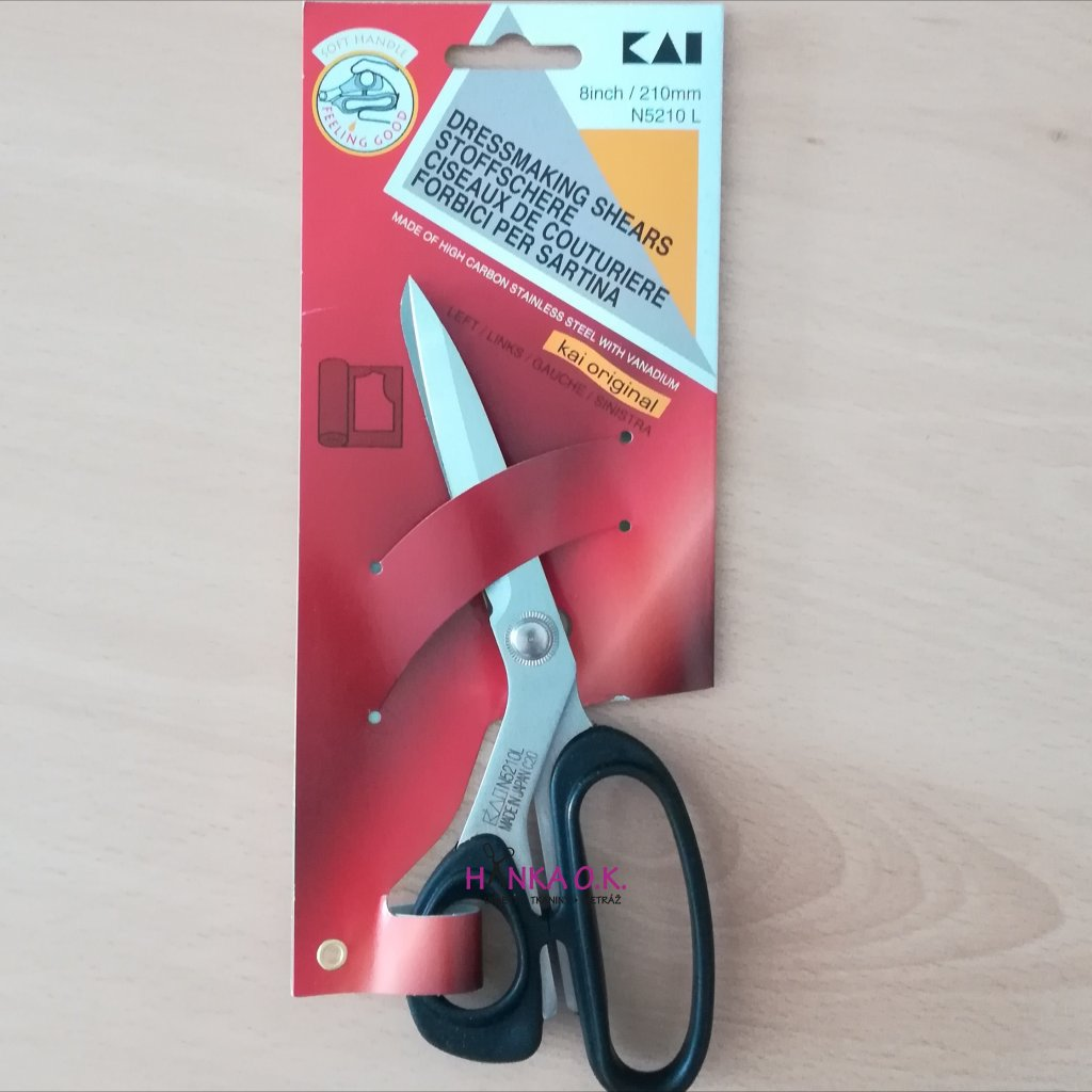 Nůžky pro leváky KAI N5210 - délka 21cm