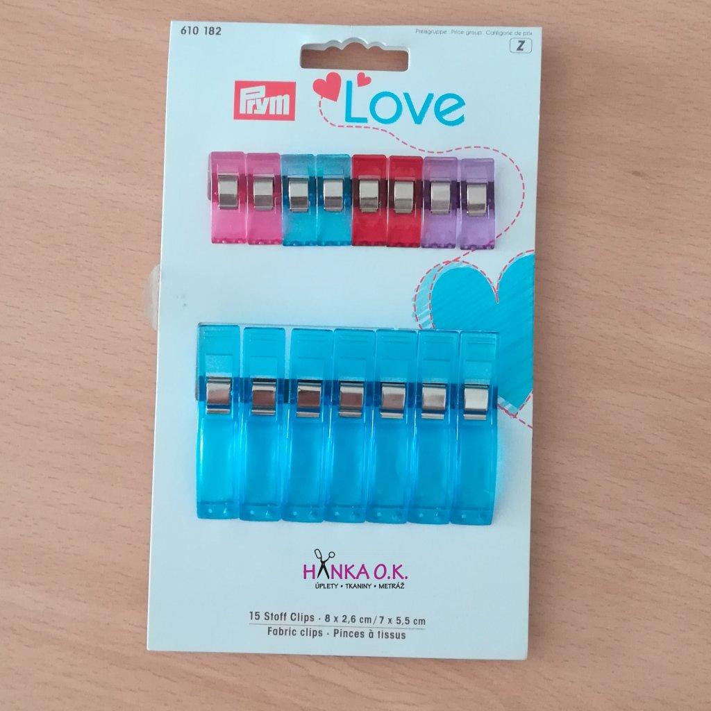 Svorky na textil PRYM Love  6+7 ks