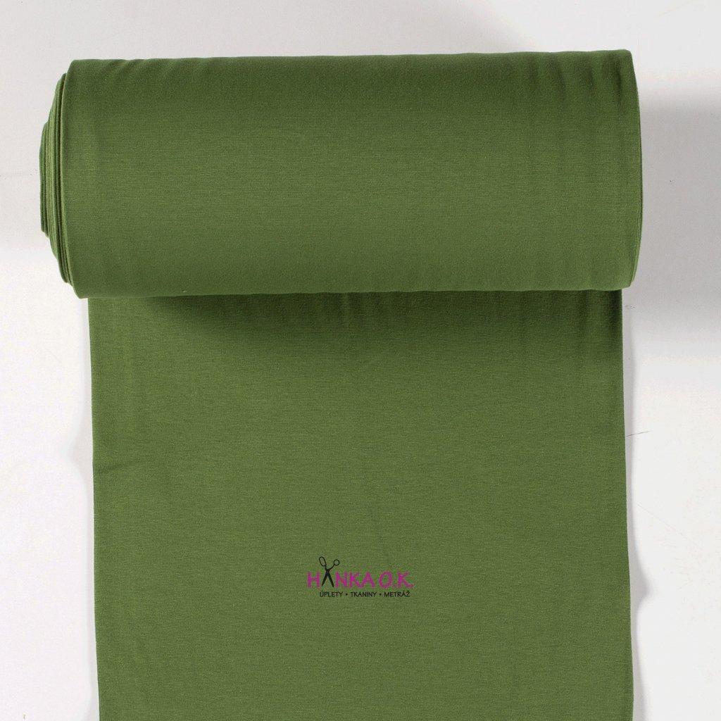 Náplet hladký zelená khaki světlá tunel 2x35cm