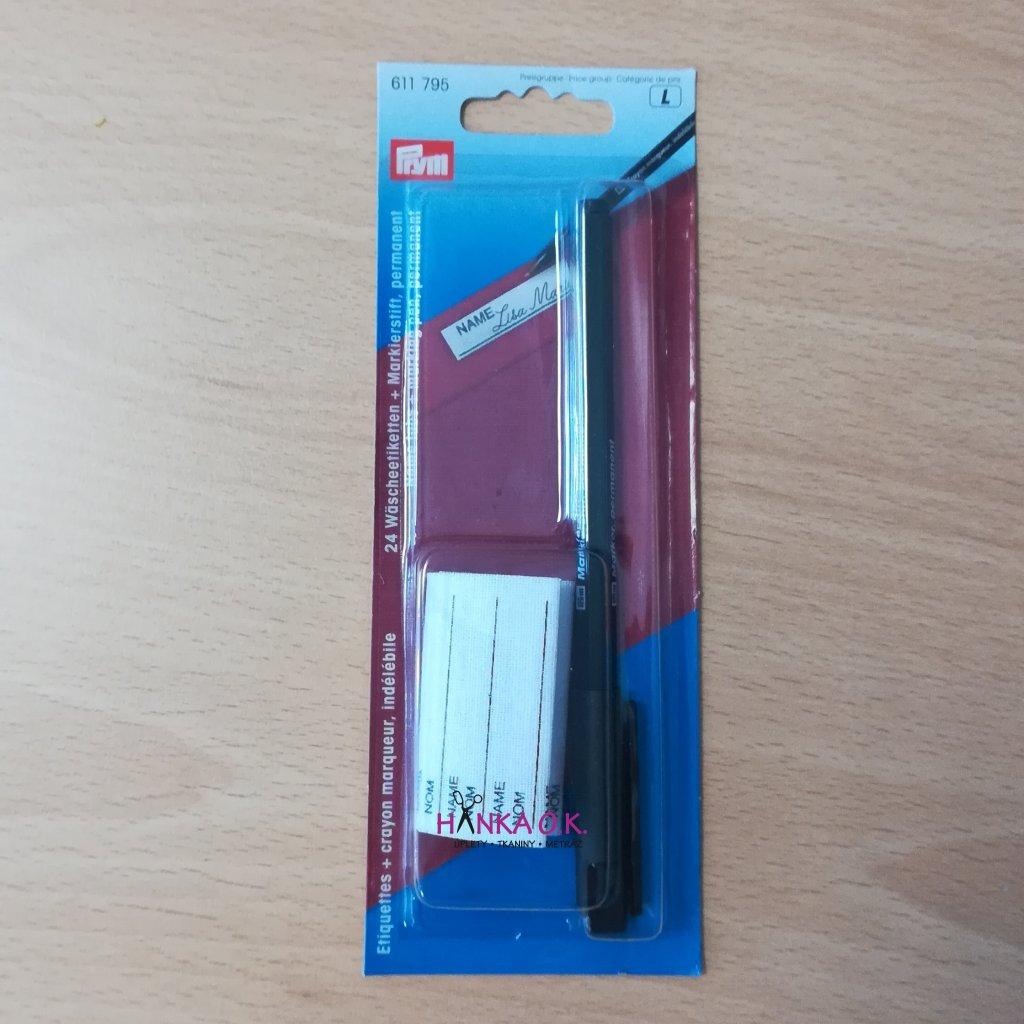 Pero na značení prádla + 24 štítků
