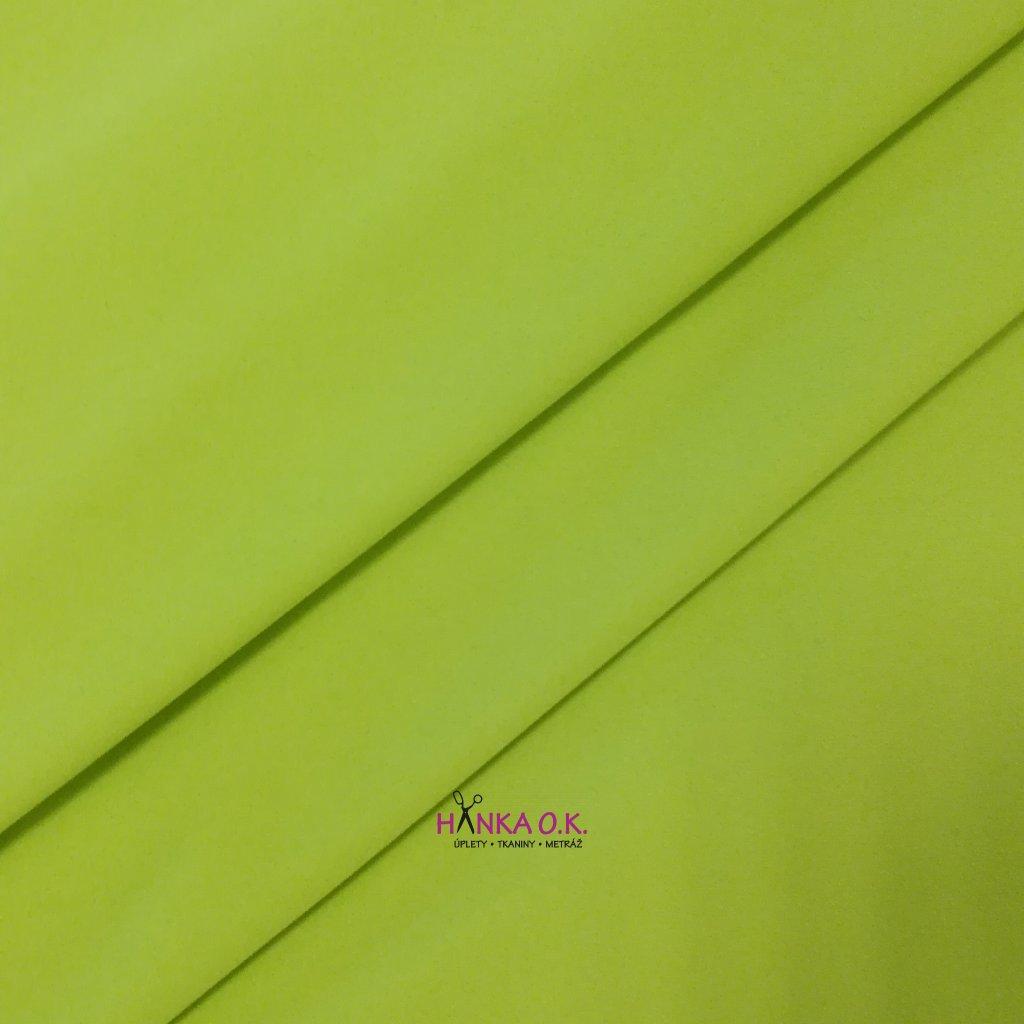 Softshell zimní 3 vrstvý pružný zelená světlá lime 220g, 18/12