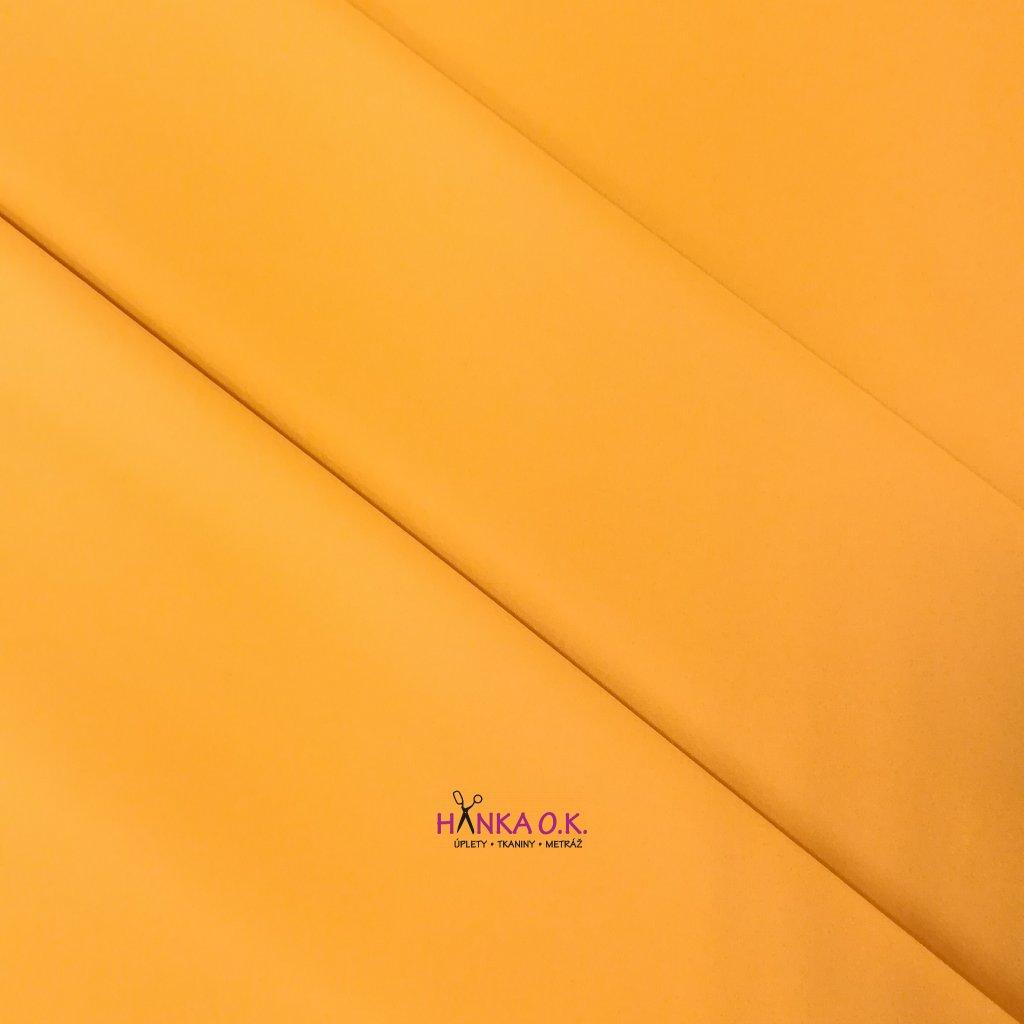 Softshell zimní 3 vrstvý pružný žlutá okrová 220g