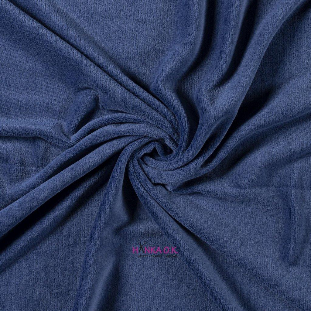 Coral fleece jednobarevný modrá střední 260g