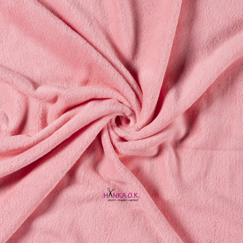Coral fleece jednobarevný růžová světlá 260g