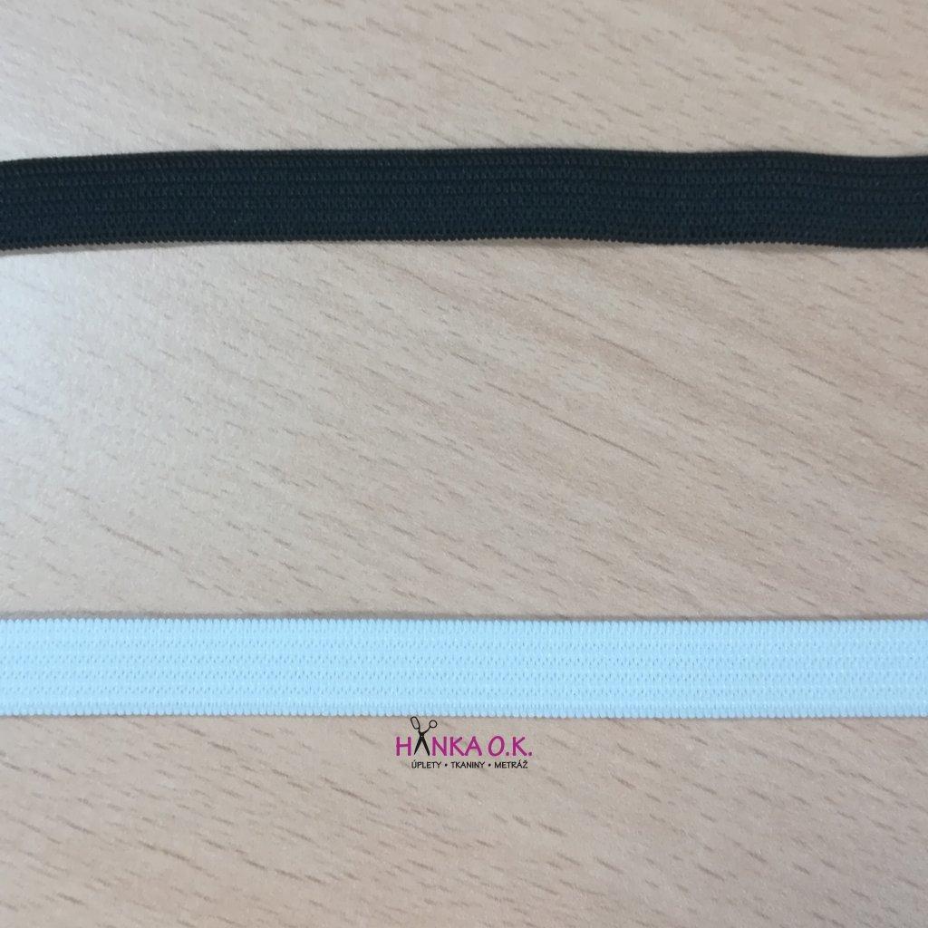 Pruženka - guma pletená galonová - oděvní, šíře 1 cm - více barev