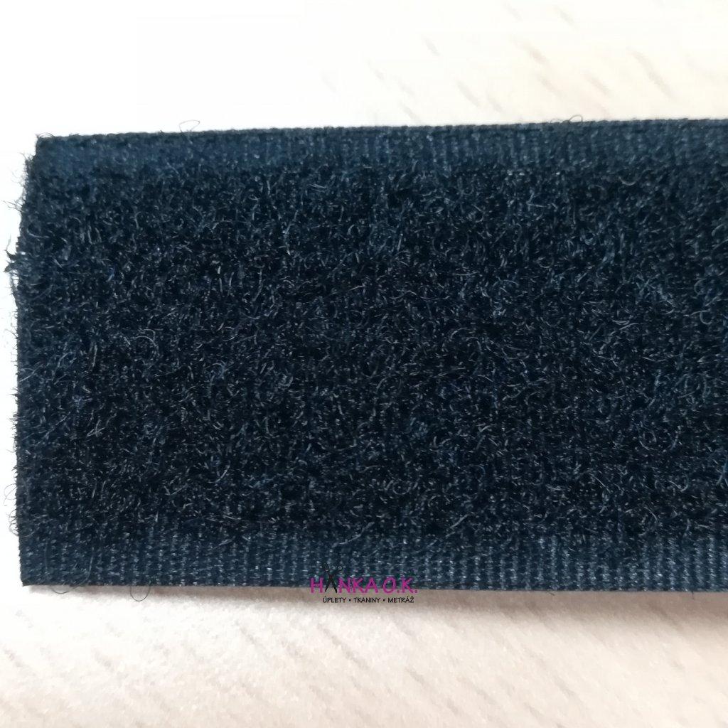 Suchý zip šíře 3 cm (1m v balení) - černý