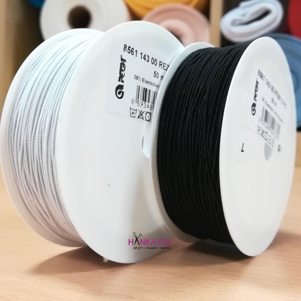 Pružná nit Optex 0,5 mm - cívka 50m (ponožková guma)
