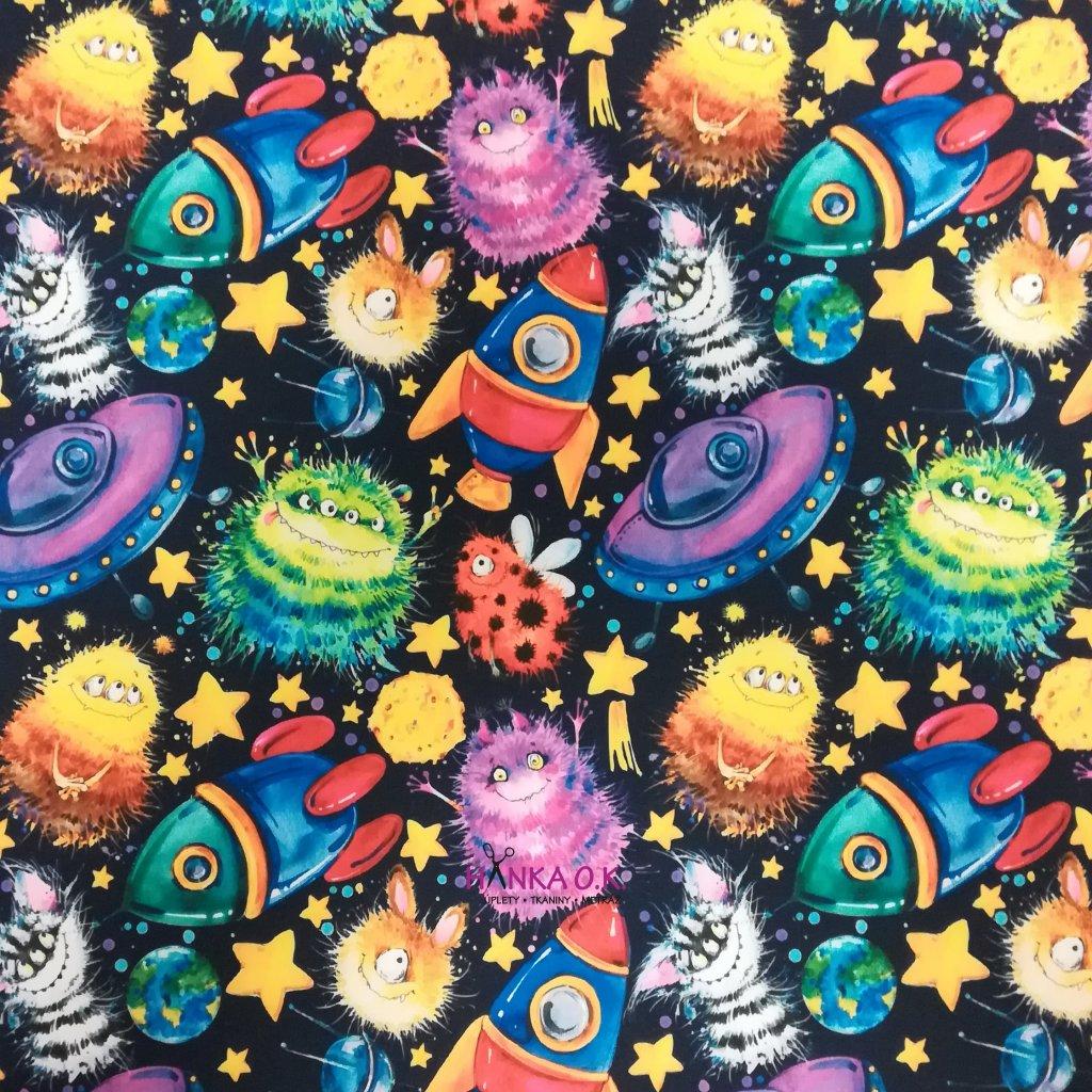 Softshell zimní 3 vrstvý vesmírné příšerky 310g