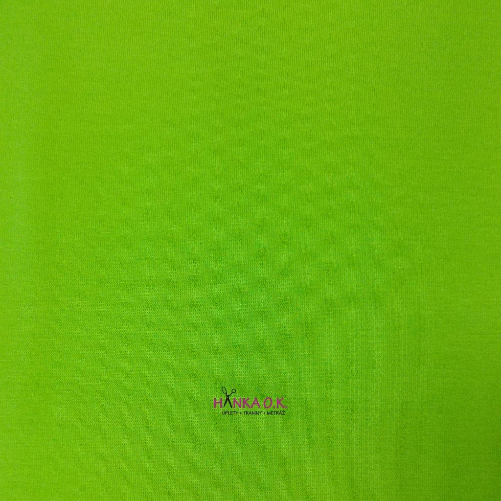 Úplet jednolícní tmavá zelená limetková 240g, šíře 180cm