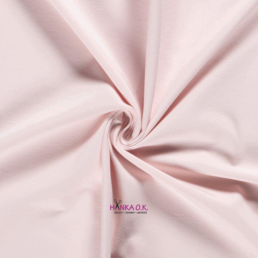 Teplákovina růžová světlá baby 250g