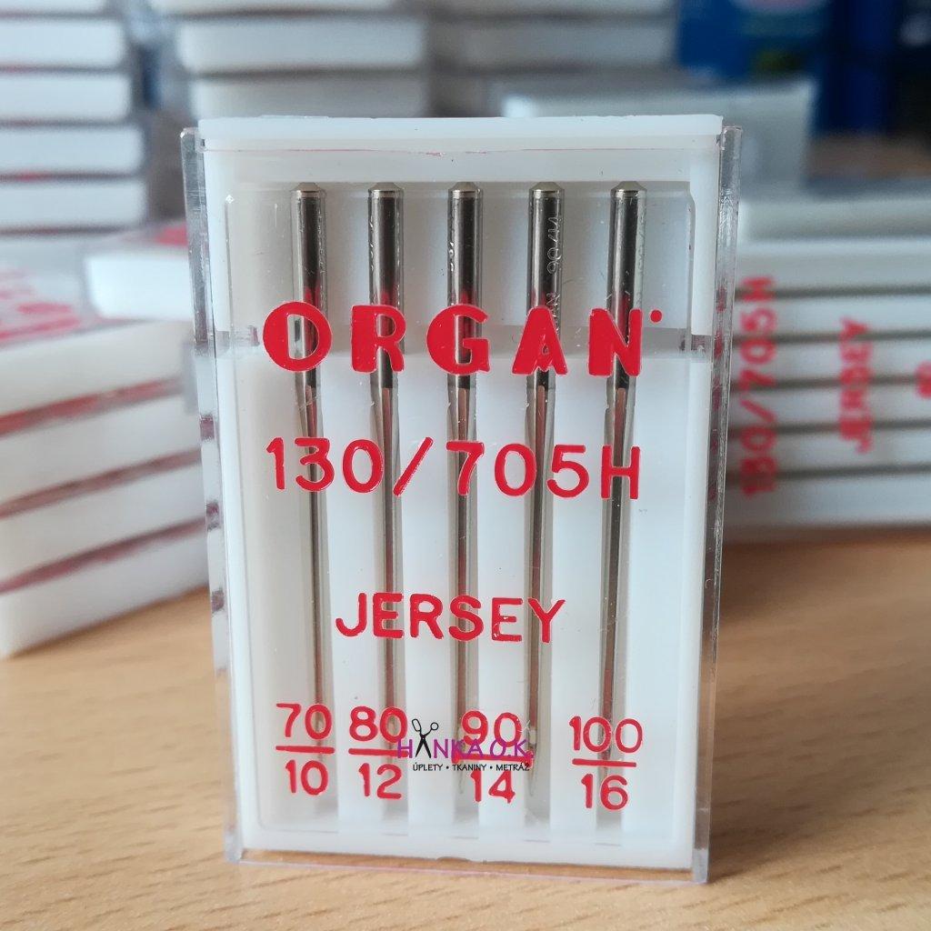 Strojové jehly ORGAN Jersey mix- 5 ks - 130/705H