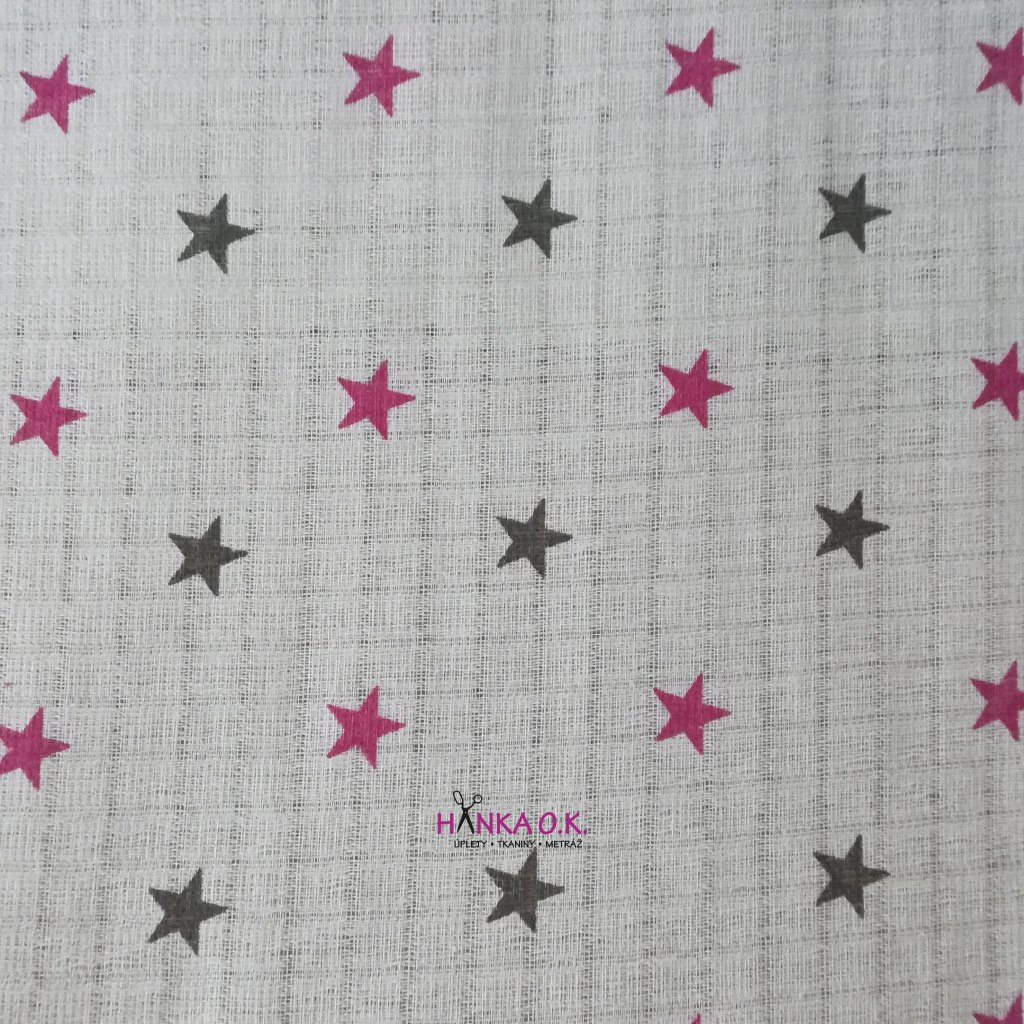 Plenkovina 115g - hvězdy s růžovou