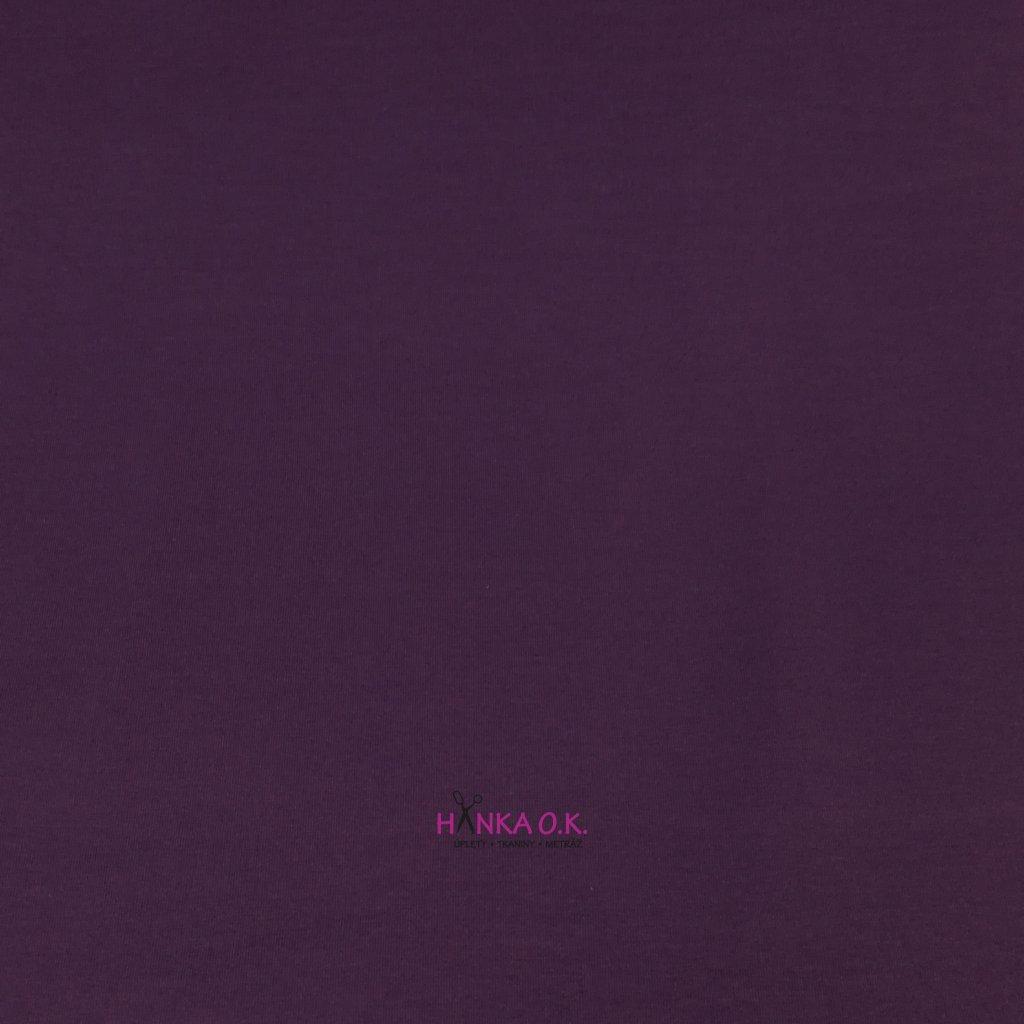 Úplet jednolícní fialová 240g, šíře 180cm