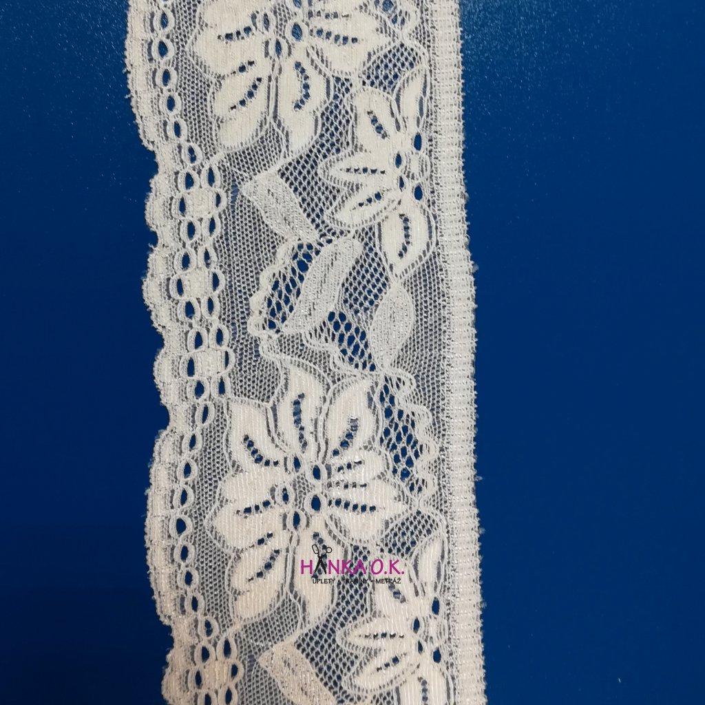 Krajka elastická bílá 7,4cm