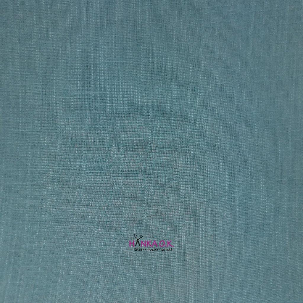 Lněná tkanina s viskózou 200g - modrá baby
