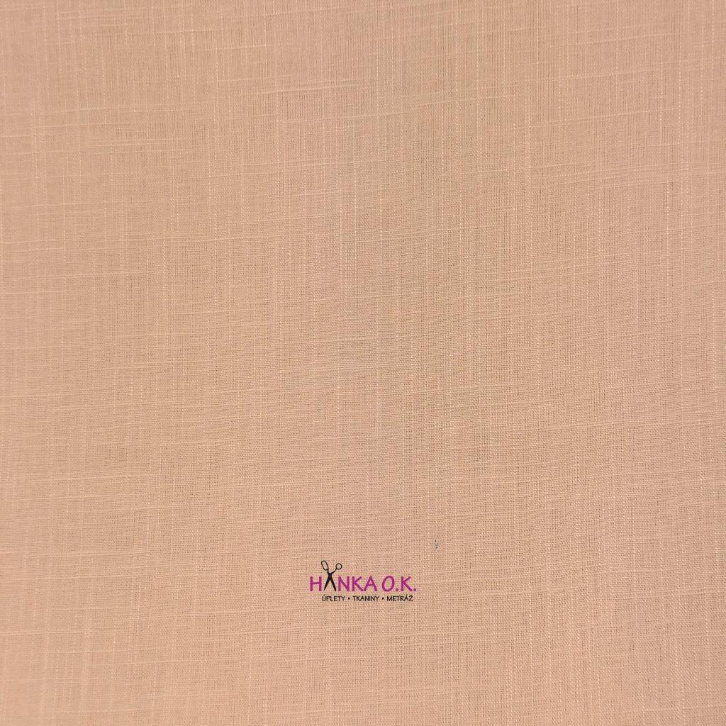 Lněná tkanina s viskózou 200g - přírodní béžová
