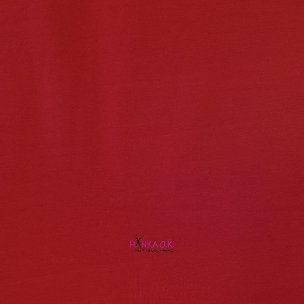 Teplákovina nepočesaná 280g červená jasná, šíře 180 cm