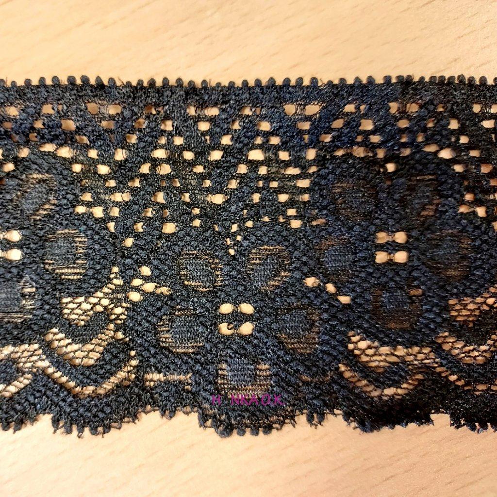 Krajka elastická - bílá, černá 6cm
